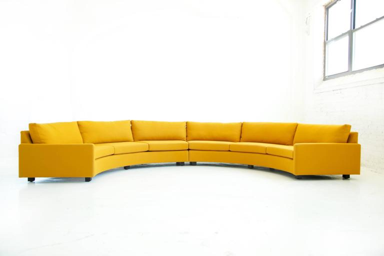 Milo Baughman Semi-Circle Sectional Sofa 8