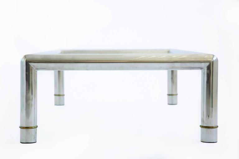 American Large Rectangular Mastercraft Cocktail Table For Sale