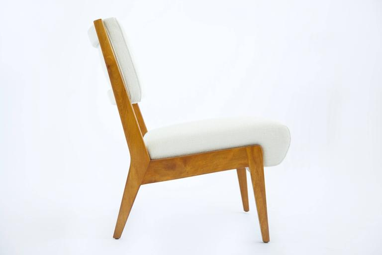 Mid-Century Modern Jens Risom Armless Lounge Chair For Sale
