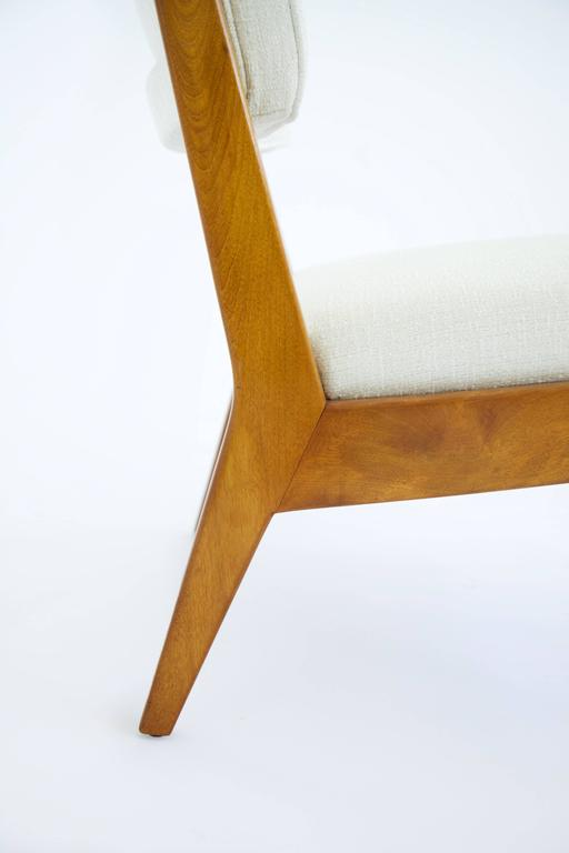 American Jens Risom Armless Lounge Chair For Sale