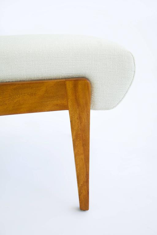 Jens Risom Armless Lounge Chair In Excellent Condition For Sale In Chicago, IL