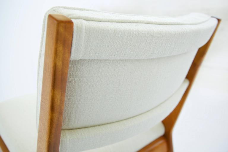 Upholstery Jens Risom Armless Lounge Chair For Sale