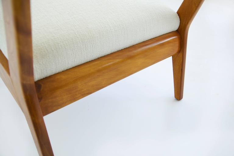 Jens Risom Armless Lounge Chair For Sale 1