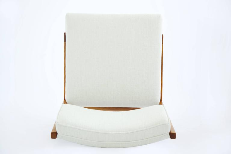 Jens Risom Armless Lounge Chair For Sale 3