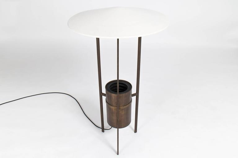Rare and important three leg version. Manufactured and collaborated with Edison Price.  Lamp originally designed for