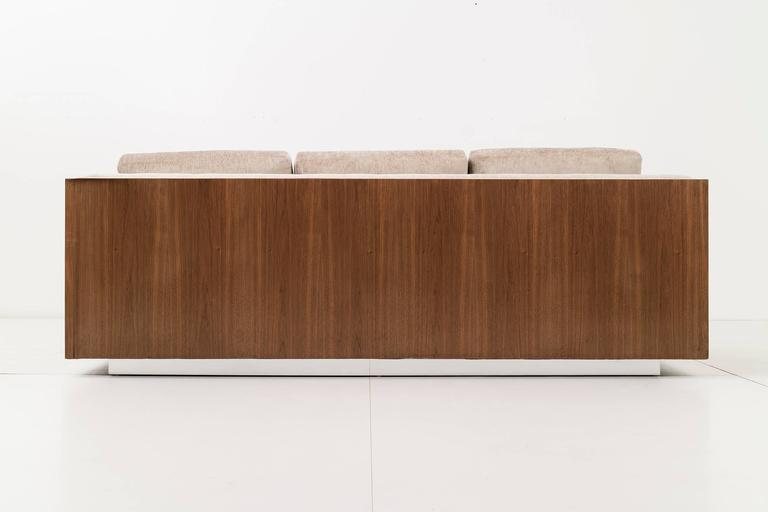 Plated Milo Baughman Rosewood Case Sofa For Sale
