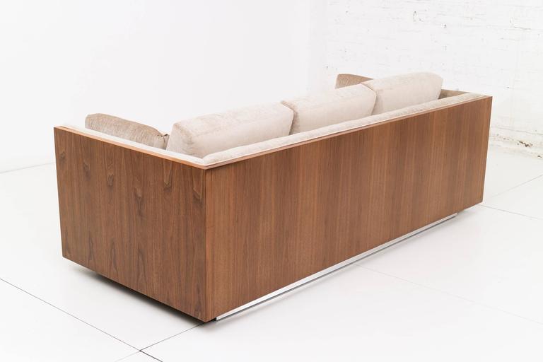 American Milo Baughman Rosewood Case Sofa For Sale