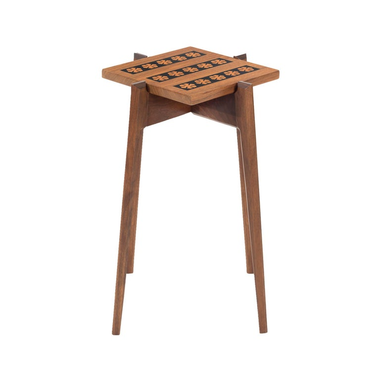 Walnut Side Table in the Style of Edward Wormley