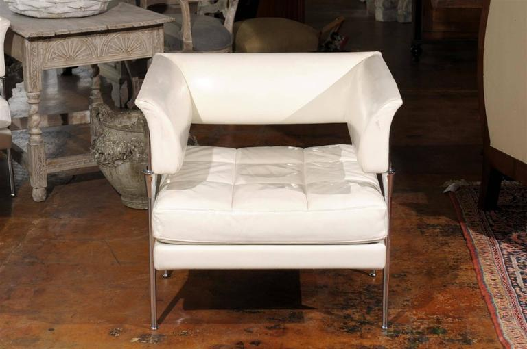 20th Century Pair of Italian Poltrona Frau Hydra Chairs, in Pelle Leather by Luca Scacchetti For Sale