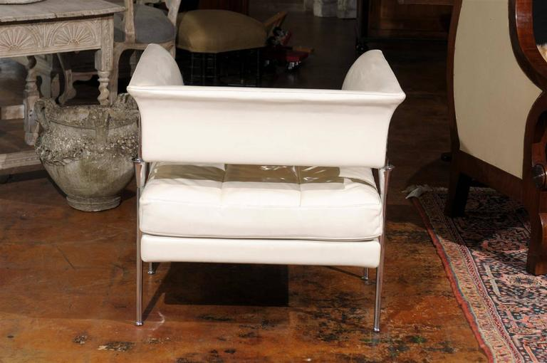 Pair of Italian Poltrona Frau Hydra Chairs, in Pelle Leather by Luca Scacchetti For Sale 1