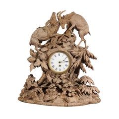 19th Century Bleached Black Forest Clock