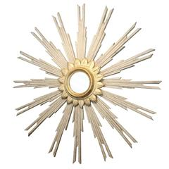 French Starburst Mirror with Gilded Center