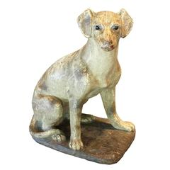 Stone Dog Sculpture