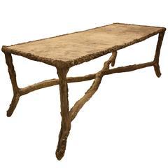 Concrete Faux Bois Table