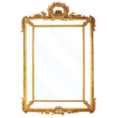 19th Century Gilt Framed Provincial Mirror, circa 1860