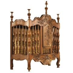 Mid-19th Century French Walnut Panetiere with Key