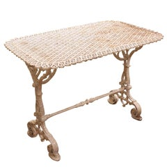 French Painted Cast Iron Garden Table