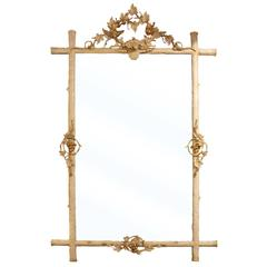 French Mirror with Leaf Design