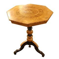 English Inlaid Octagon Table