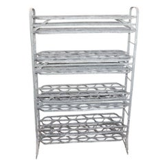 French Tiered Zinc Drying Rack for Wine Bottles, Terracotta Pots or Flowers