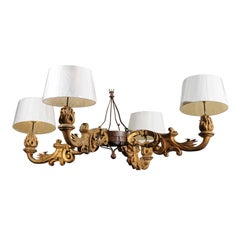 Chandelier Made from Architectural Elements