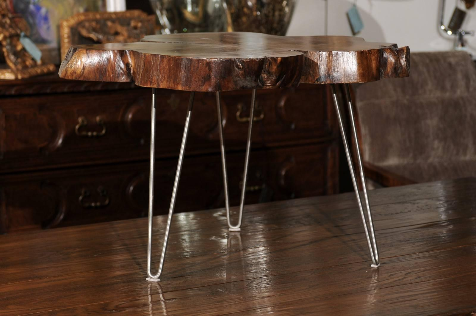 An American Custom Made Cocktail Table With Hairpin Legs. We Currently Have  Three Tables