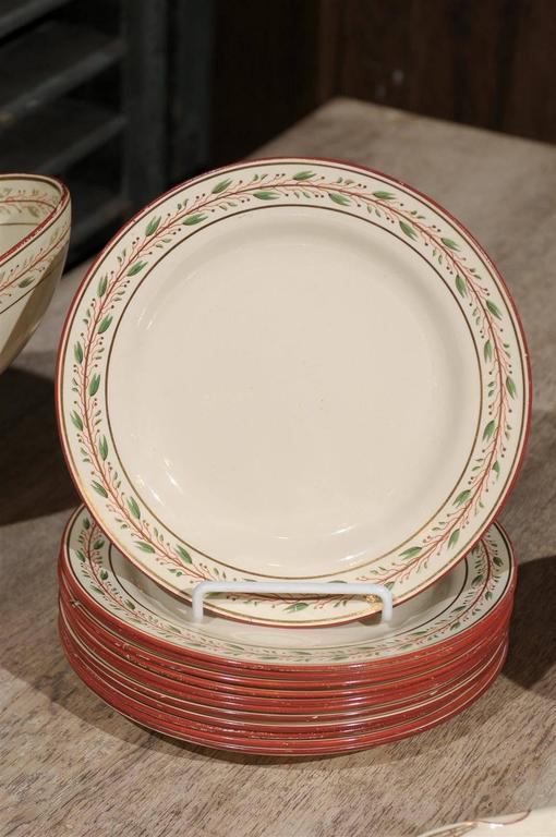 Early 19th Century 20-Piece Wedgwood Seashell and Seaweed Set, Maker Marked 8