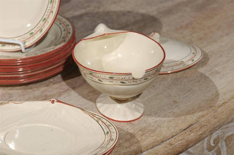 Early 19th Century 20-Piece Wedgwood Seashell and Seaweed Set, Maker Marked For Sale 1