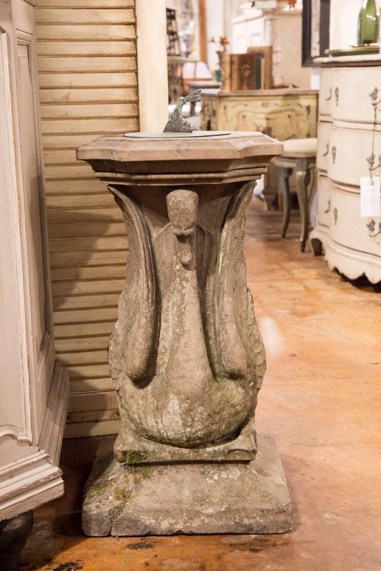 garden sun large pedestal stone shop sundial dial s armillary