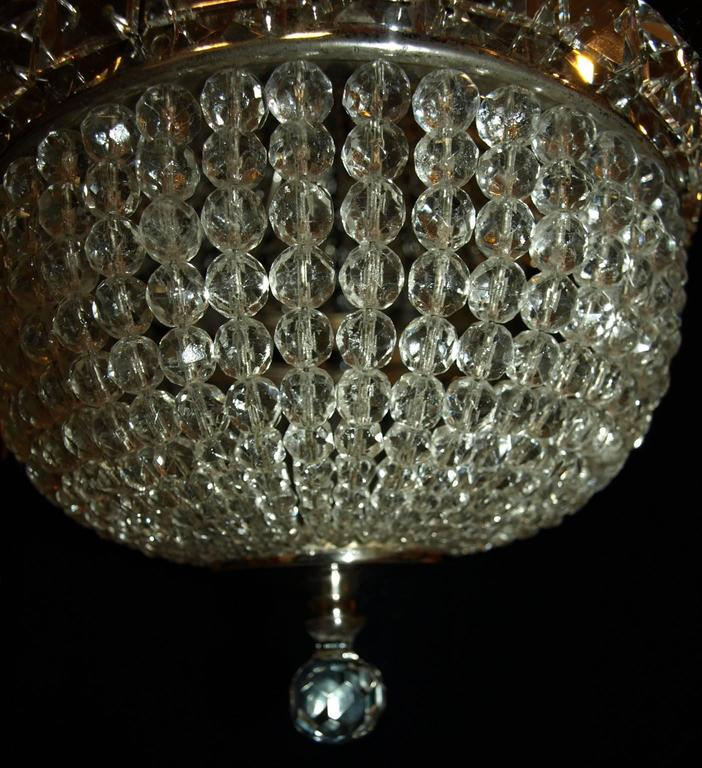 Mid-20th Century Antique Chandelier, Basket Chandelier For Sale