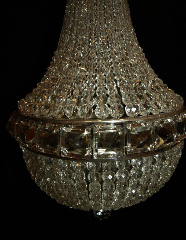 Bronze Antique Chandelier, Basket Chandelier For Sale