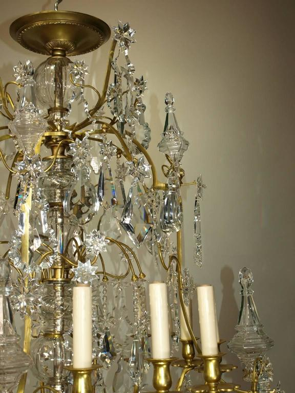 Louis XV Antique Chandelier by Baccarat For Sale