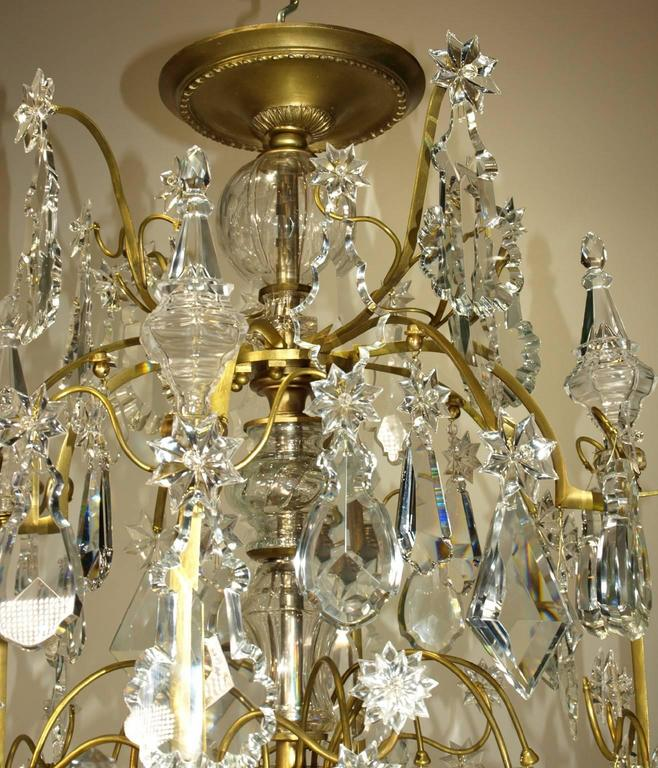 French Antique Chandelier by Baccarat For Sale