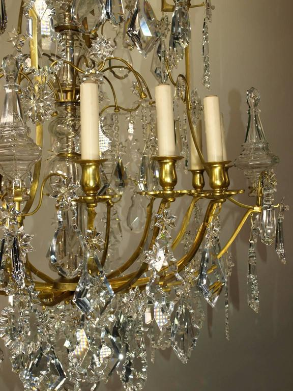 Gilt Antique Chandelier by Baccarat For Sale