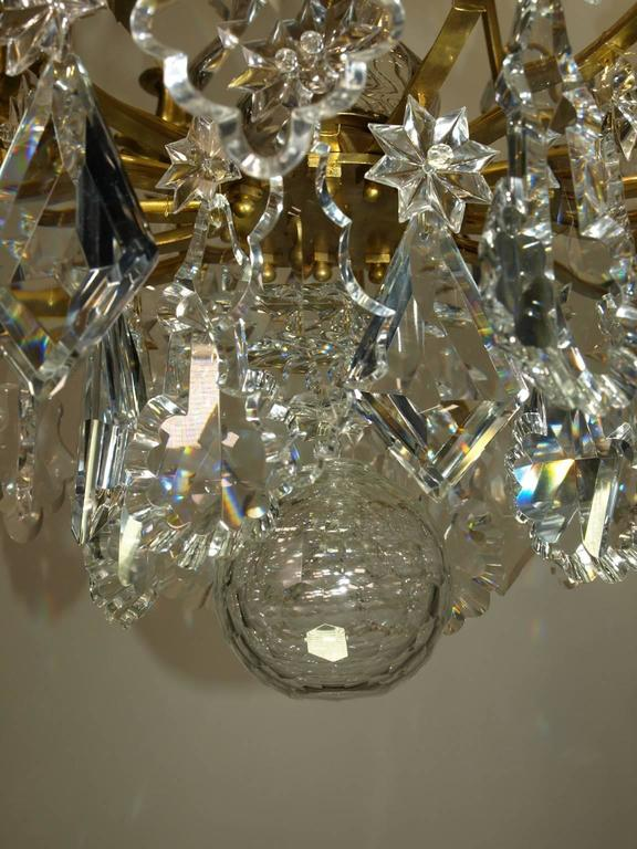 Antique Chandelier by Baccarat In Excellent Condition For Sale In Atlanta, GA