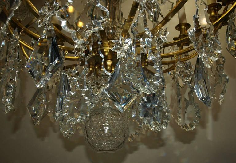 19th Century Antique Chandelier by Baccarat For Sale