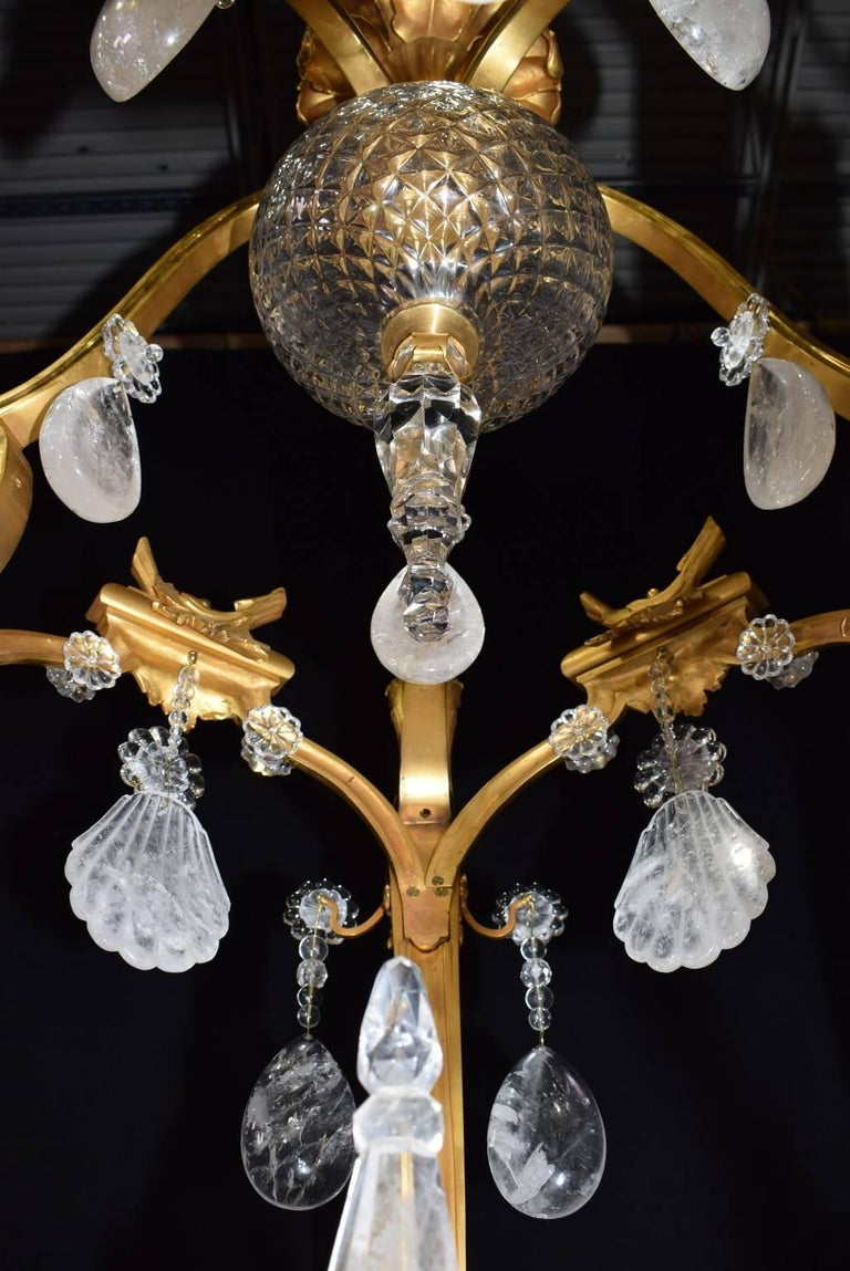 Antique rock crystal chandelier for sale at 1stdibs gilt antique rock crystal chandelier for sale aloadofball Image collections
