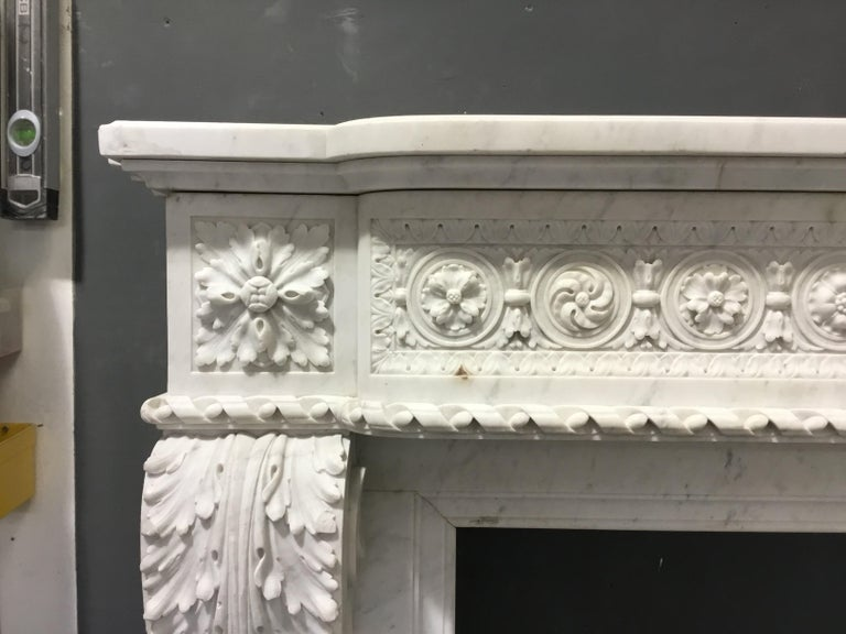 French An antique Louis XVI style chimneypiece  For Sale