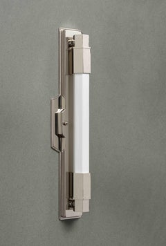 Jamb, Conroy, Nickel Wall Light Sconce in the Art Deco Style