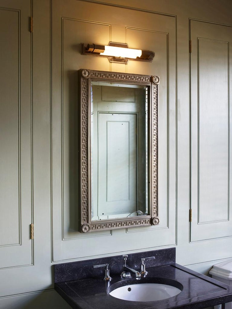 Jamb, Conroy, Nickel Wall Light Sconce in the Art Deco Style (USA Wired)  For Sale 1