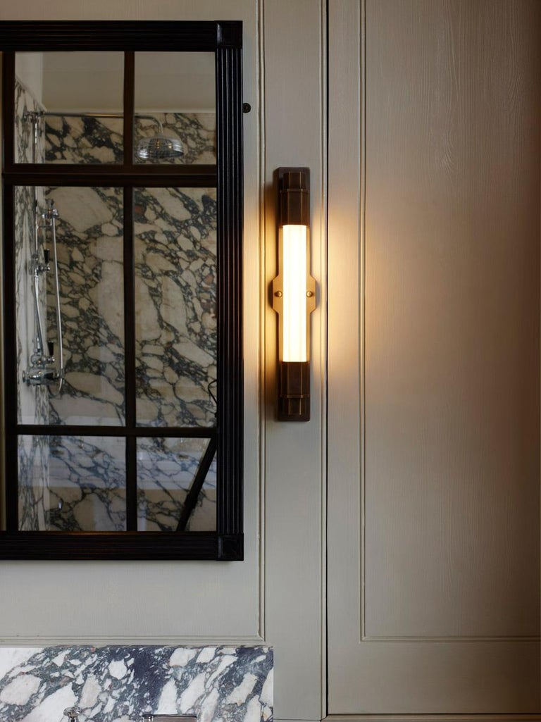 Jamb, Conroy, Nickel Wall Light Sconce in the Art Deco Style (USA Wired)  For Sale 2