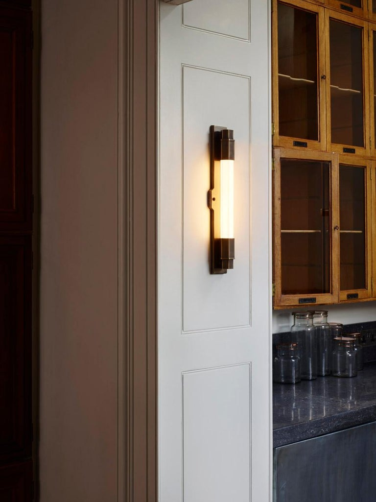 Jamb, Conroy, Nickel Wall Light Sconce in the Art Deco Style (USA Wired)  For Sale 5