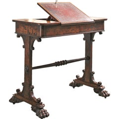 George IV Pollard Oak Writing Desk