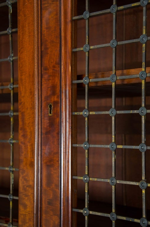 British Fine Pair of William IV Mahogany Library Bookcases For Sale