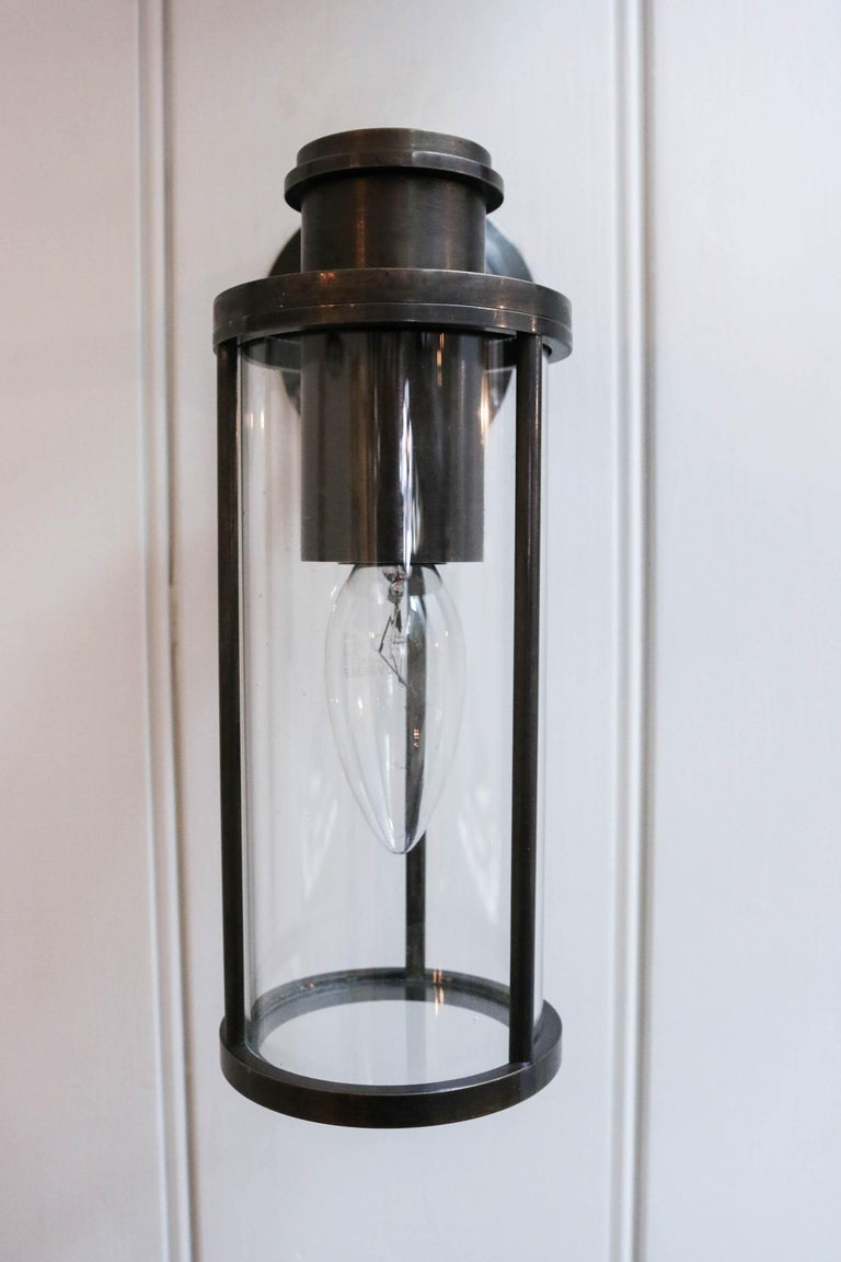 British Jamb, Adler, Cast + patinated Bronze Finish Wall Light Sconce (EU Wired) For Sale