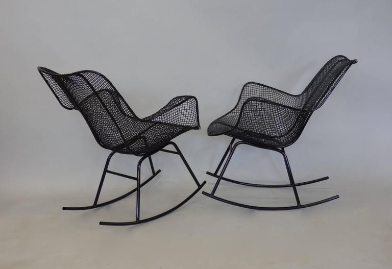 Pair of Freshly Restored Russell Lee Woodard Rocking Chairs 3