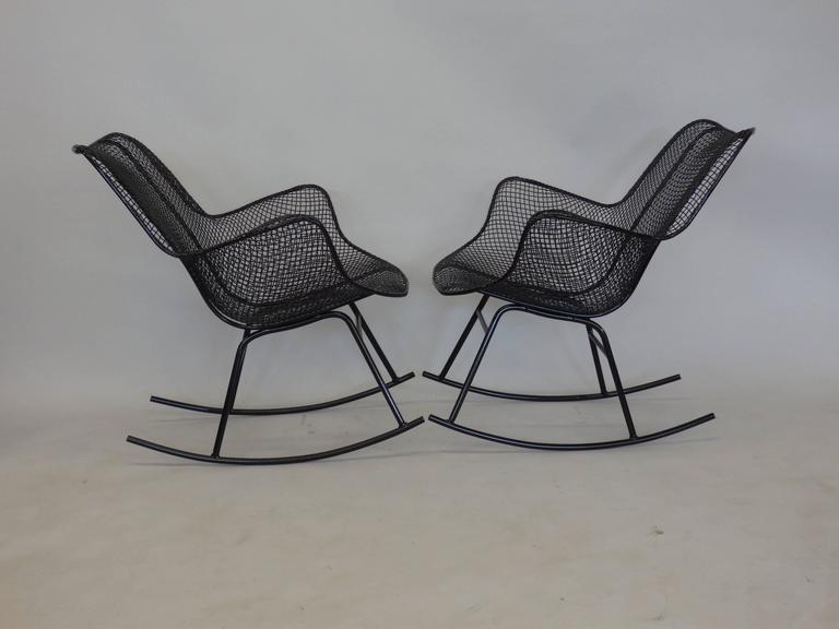 Pair of Freshly Restored Russell Lee Woodard Rocking Chairs 4