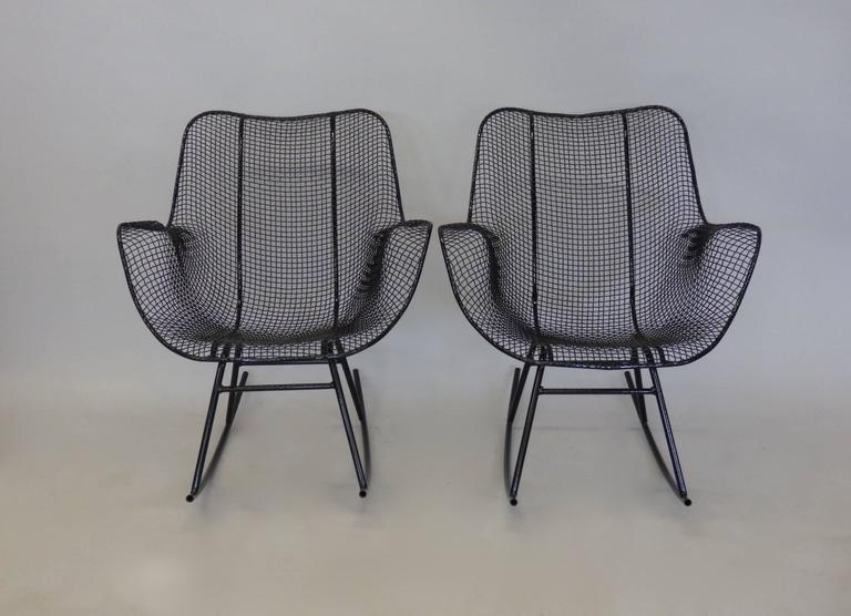 Pair of Freshly Restored Russell Lee Woodard Rocking Chairs 5
