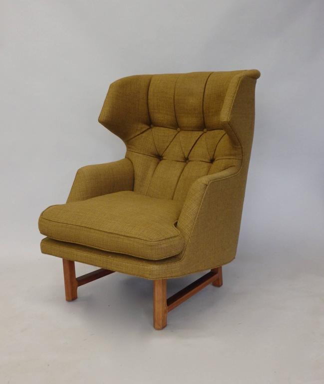 Edward Wormley for Dunbar Modernist Wingback Lounge Chair 3