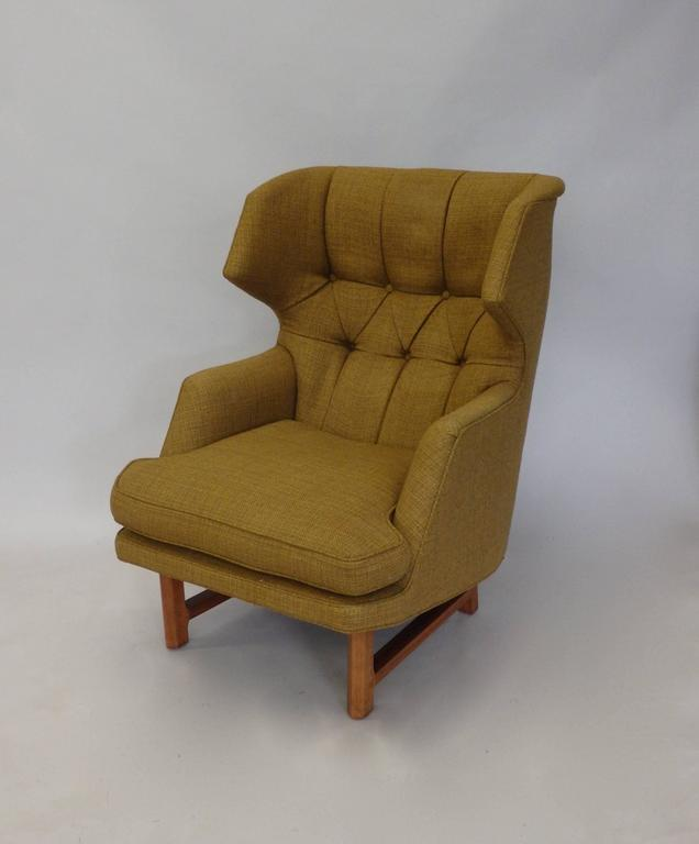 Edward Wormley for Dunbar Modernist Wingback Lounge Chair 4